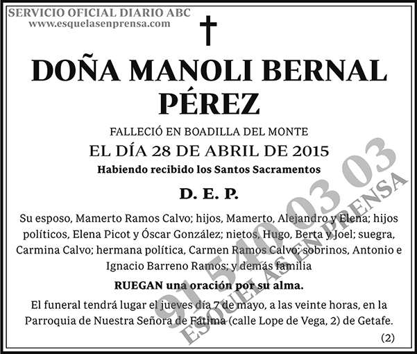 Manoli Bernal Pérez